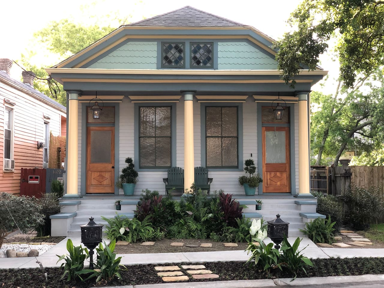 Our home is just across the street from the Fair Grounds and Race Course in the Esplanade Ridge Historic District and the Fairgrounds Triangle neighborhood.