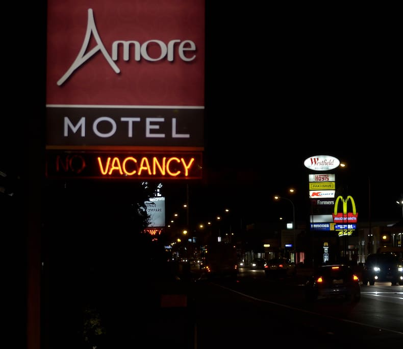 View of Amore sign