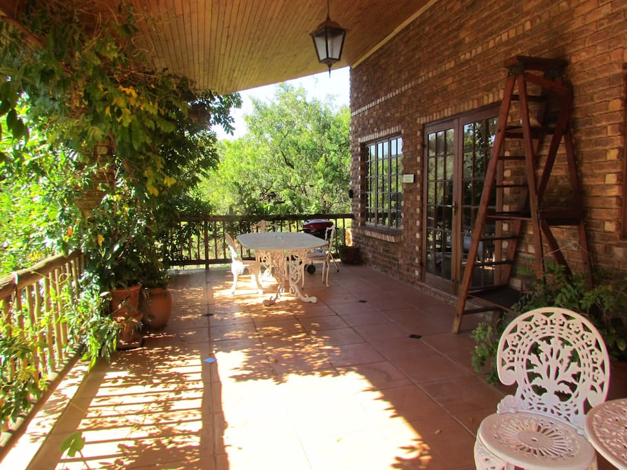 Large Verandah which you step out onto