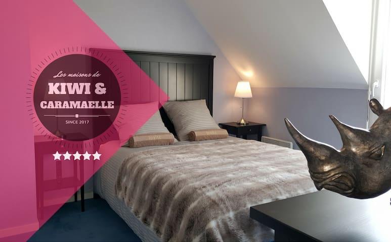 """""""Rhino Room"""" - Les Chambres de Kiwi et Caramaëlle - La Rivière-Saint-Sauveur - Huis"""
