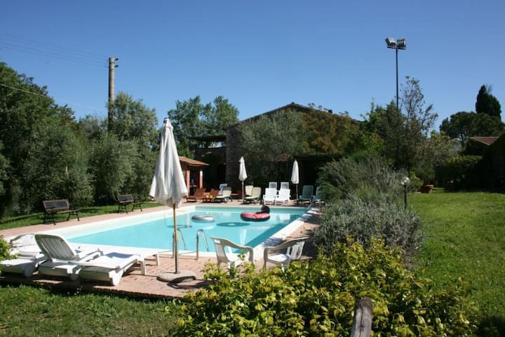 Toscana,private Terrace on the pool - Campagnatico - Apartment