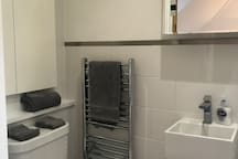 Ensuite with shower, basin and toilet