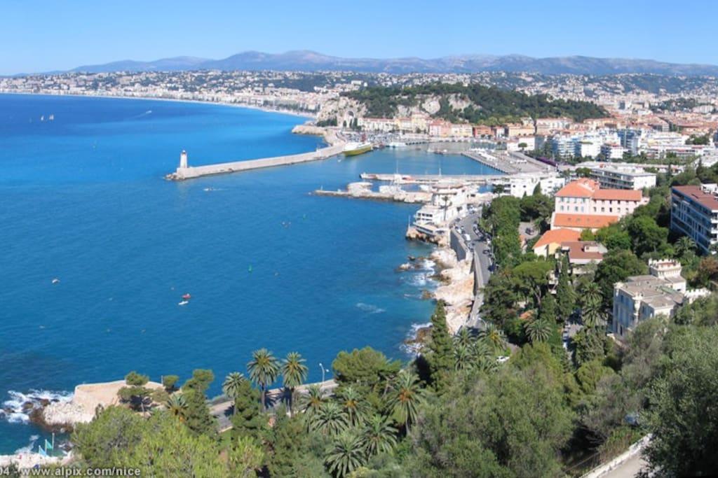 la jetée du port de Nice