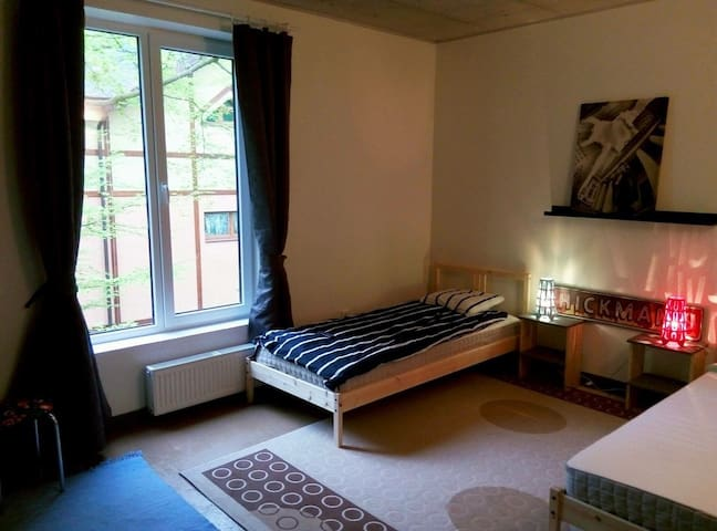 Комната с двумя кроватями и ванной - Svetlogorsk - Apartment