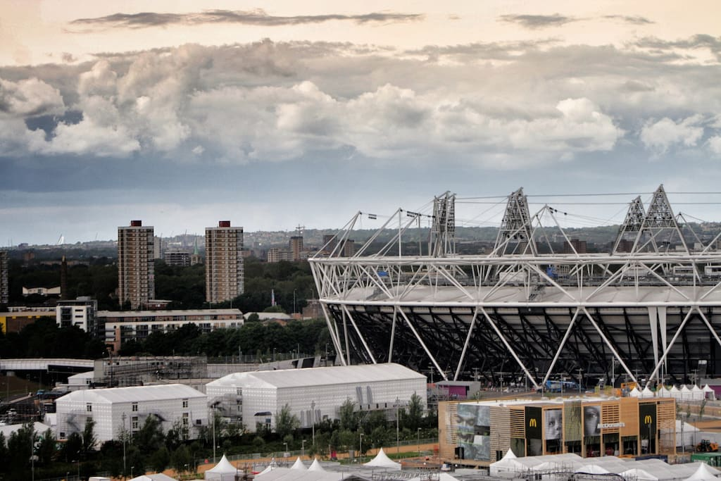 View of the Olympic Stadium from the apartment
