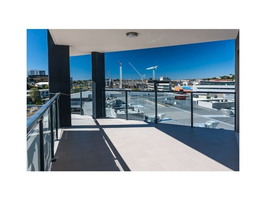 Large balcony with great views