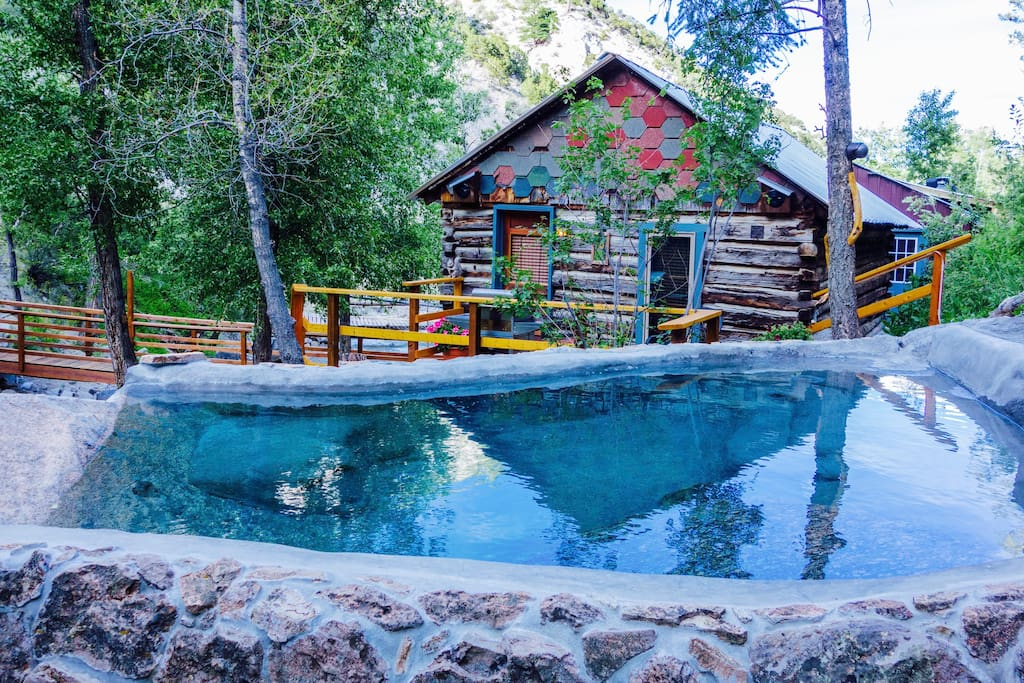 Holloway cabin on creek private hot springs cottages Cabins buena vista co