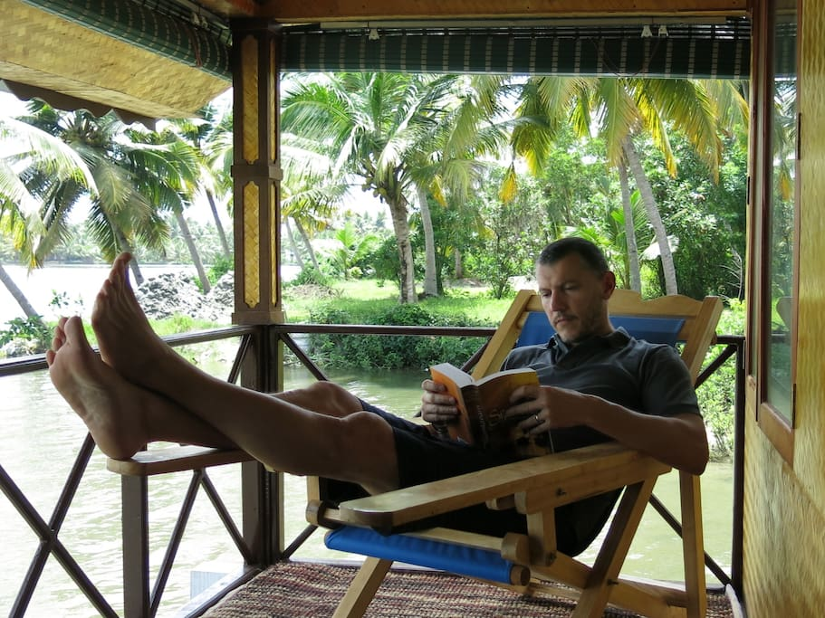 Norbert from France says the when he sits on the balcony with a book, he forgets the time