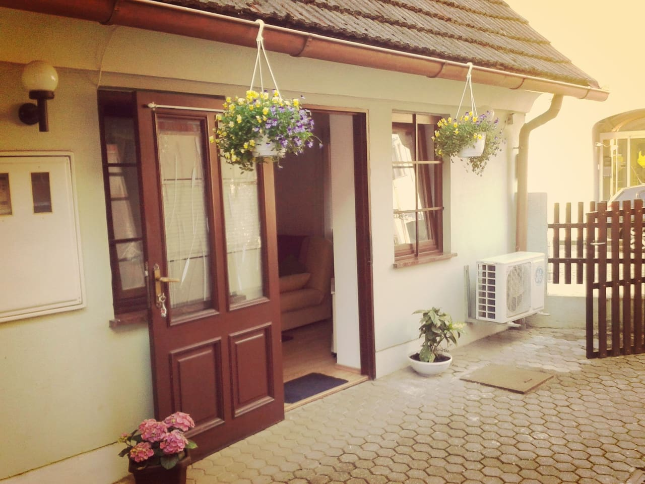 "The entrance for apartment ""Paradiso"" in the very centre of Samobor."