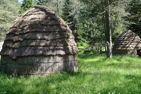 Unique Nomadic Sarakatsani Huts.