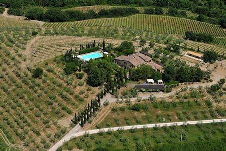 Sunny studio-aptm private garden - Castellina in Chianti