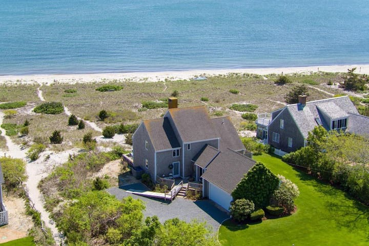 #715: Waterfront on Private Sandy Beach, Spectacular Views of Nantucket Sound!