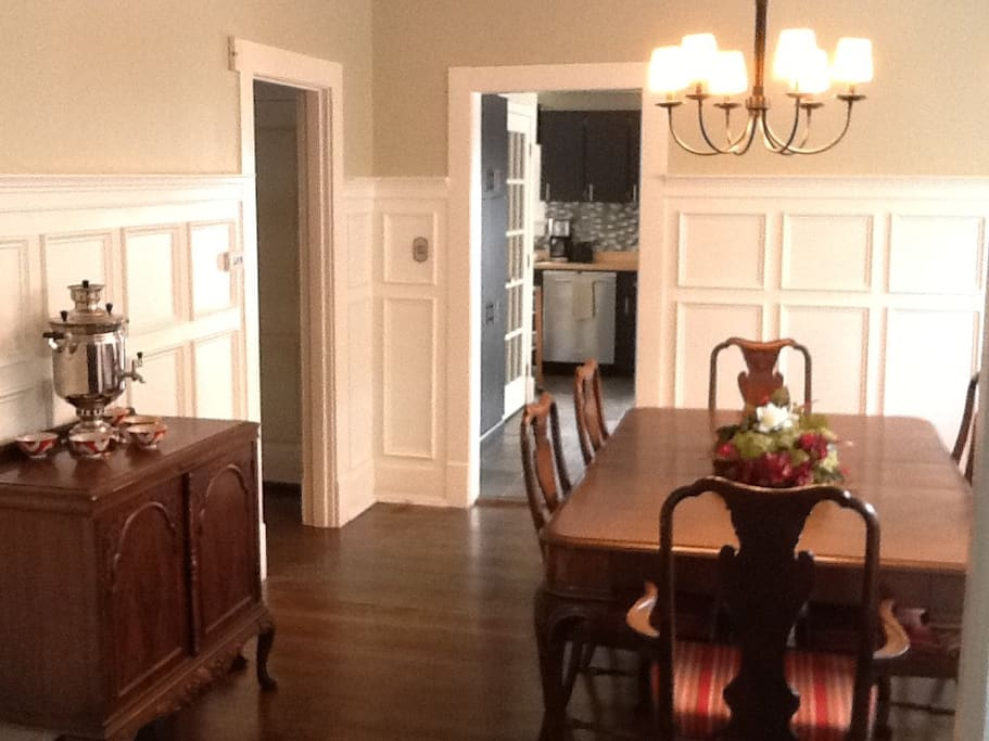 Dining room. Table seats 8.