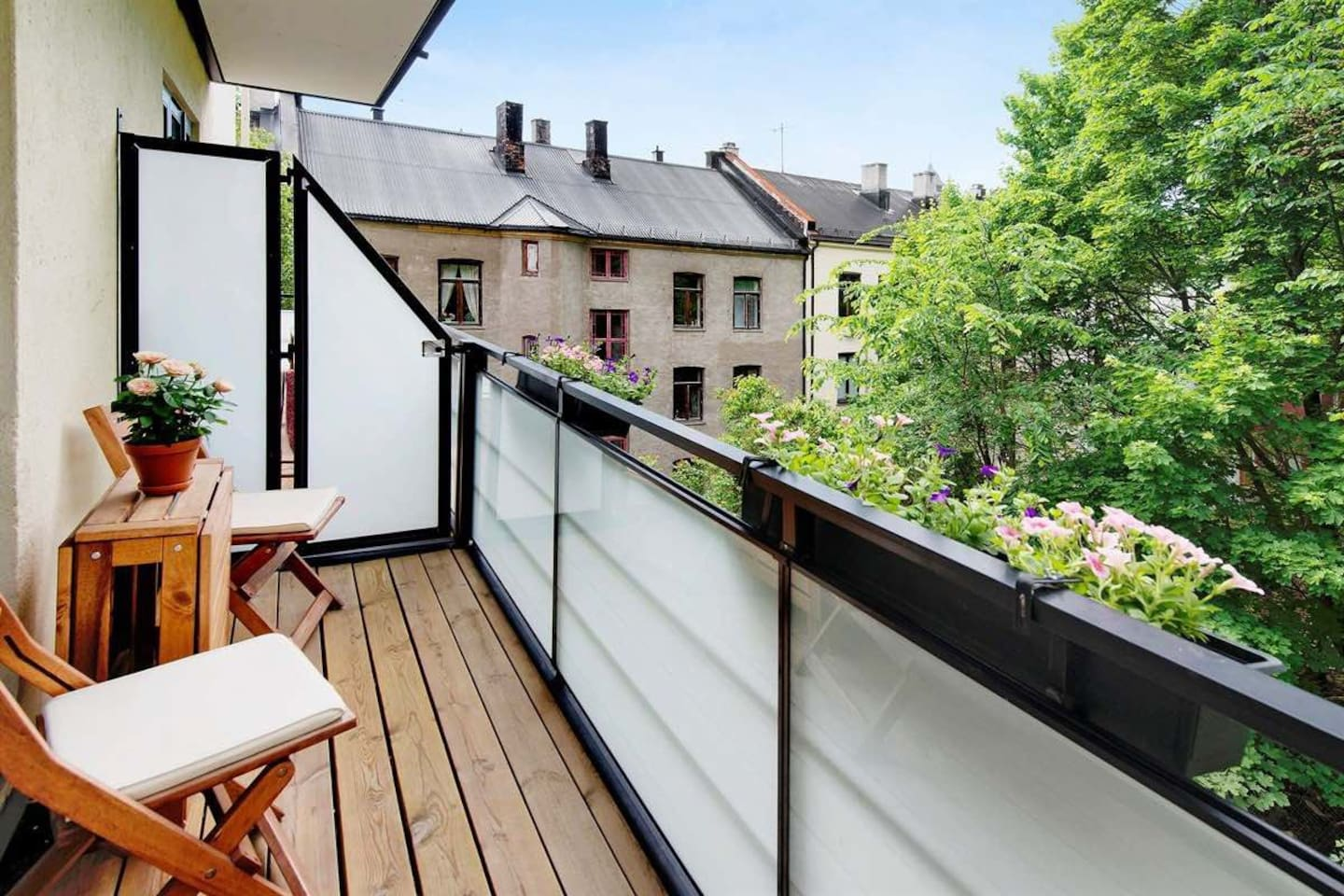 Charming balcony with grill