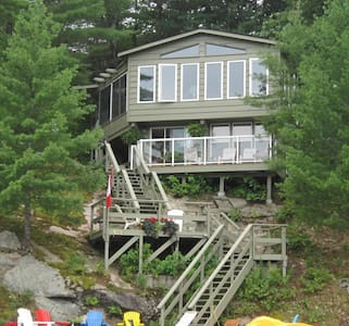 The Lake House is a lovely cottage amongst the treetops of Muldrew Lake just outside of the Town of Gravenhurst.   An easy 1.5 hour drive from Toronto, this Muskoka Cottage  has a true cottage feel with all of comforts of home.