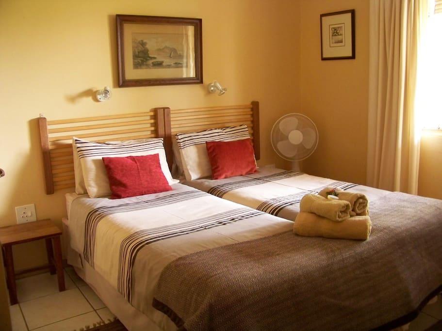 Twin-bed bedroom