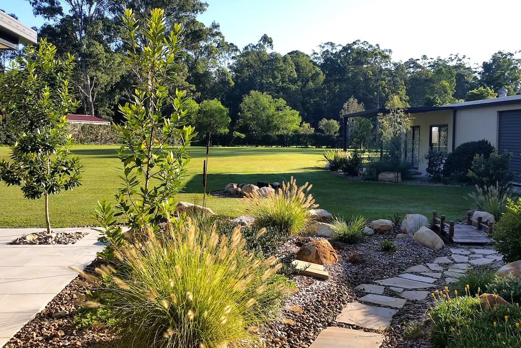 Native Garden and Fire Pit