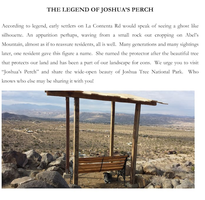 The legend of Joshua's Perch