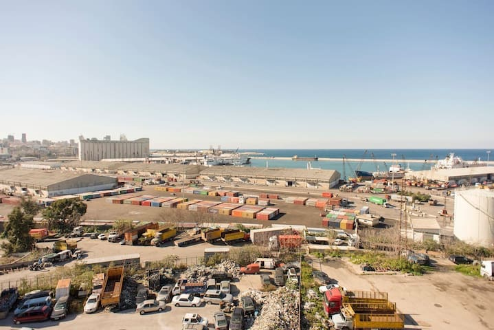 Beirut Port View Modern Studio