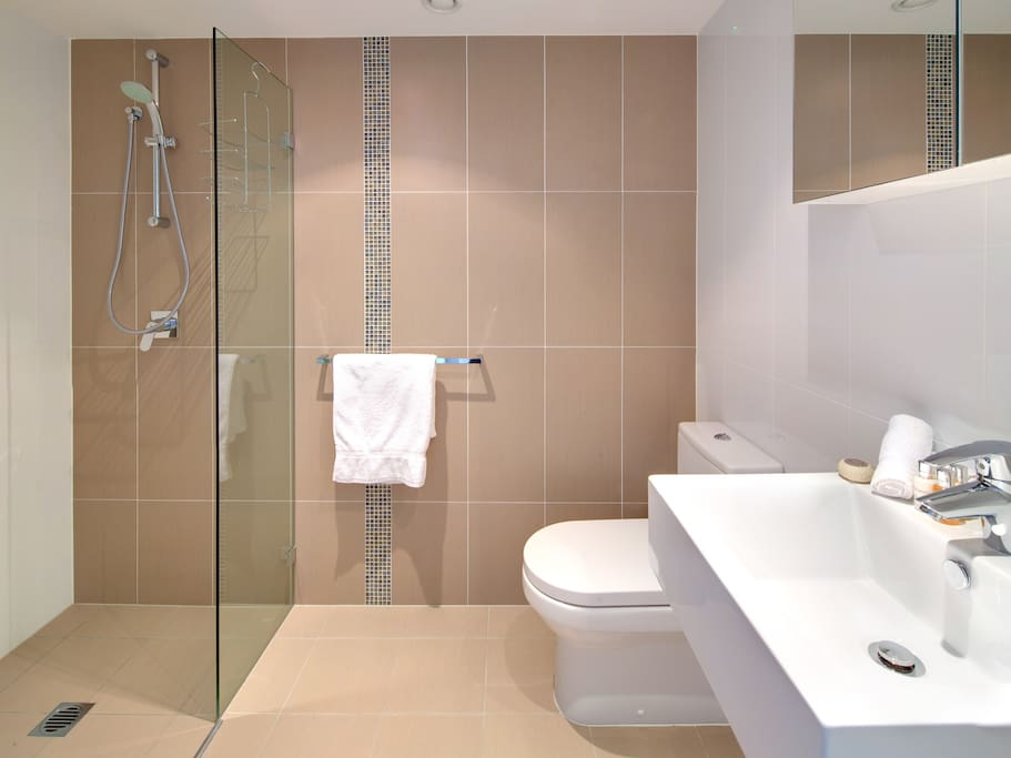Bathroom with Shower and Full Laundry