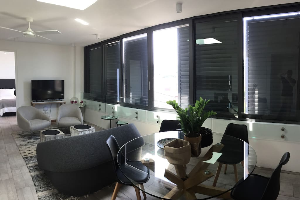 This is the Living Room, it was not taken with the best camera and was taken with the panorama option so the image is a little distorted... Please excuse this.