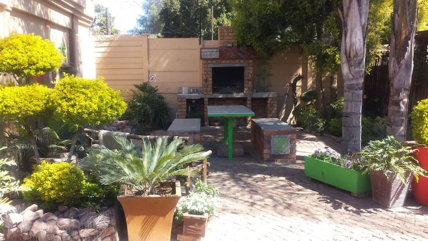 Our popular braai/barbeque area