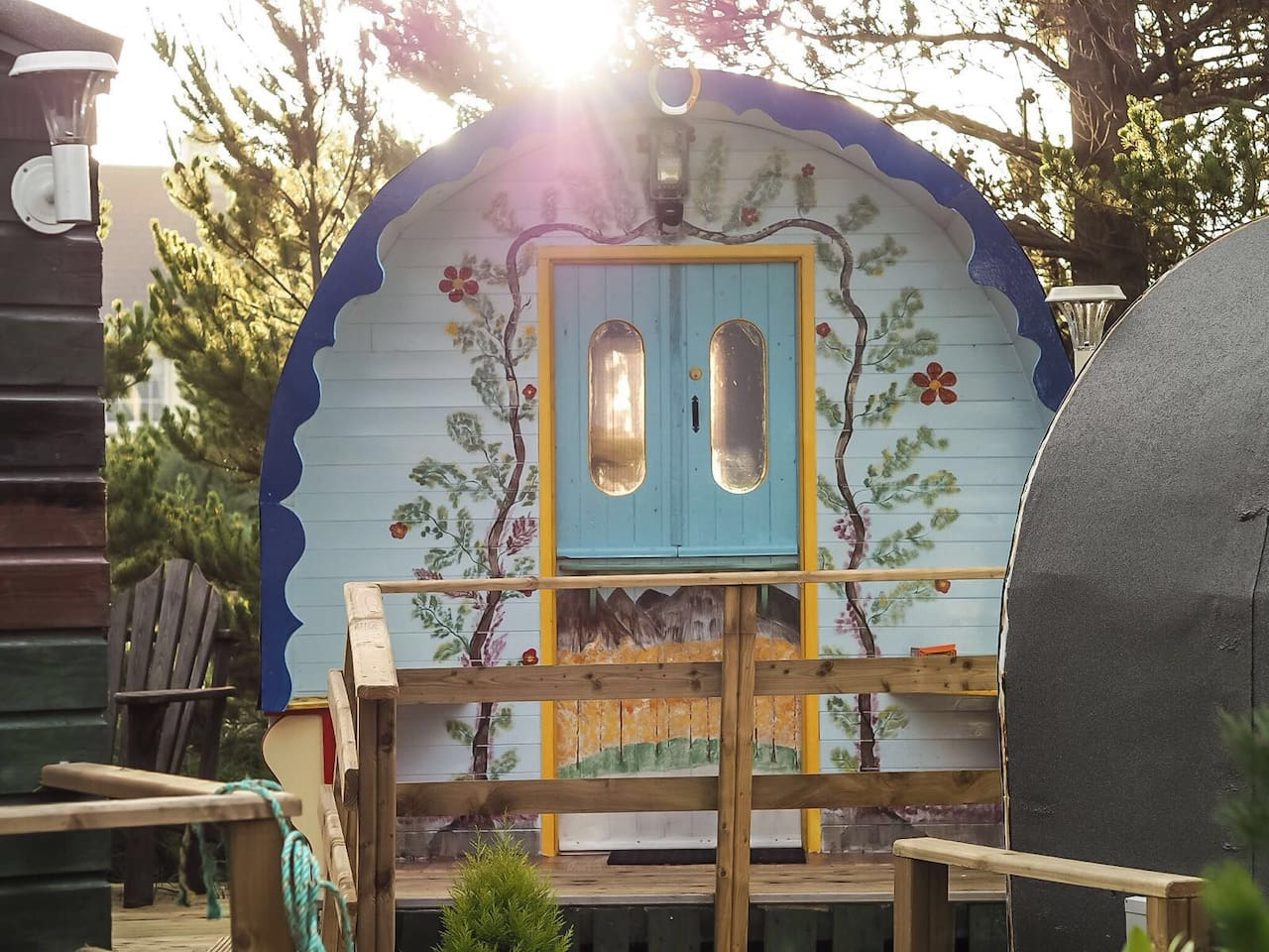 Beautifully designed and decorated modern gypsy caravan