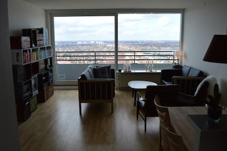 Modern apartment at the 29th floor! - Frederiksberg