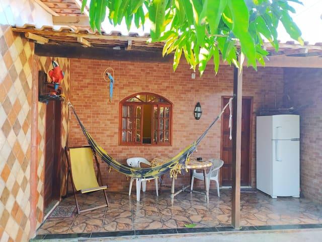 Casa com Pomar e Área Gourmet, WI-FI, Completa!