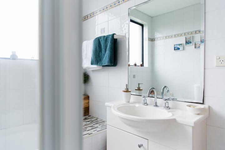 Vanity in guests bathroom