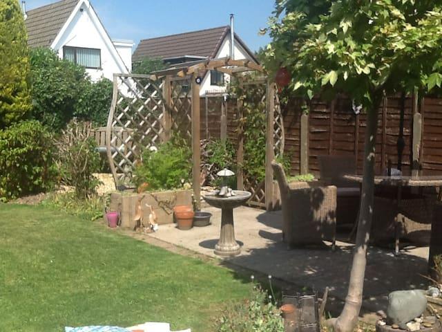 Relaxing peaceful garden
