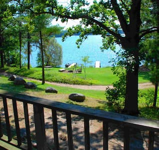 View-to-Die-For Lake Cabin, pontoon rentals, beach