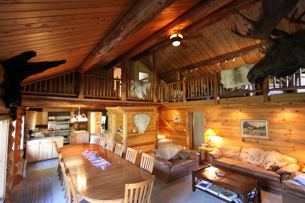 Alaska Heavenly Lodge Main Cabin Cottages For Rent In