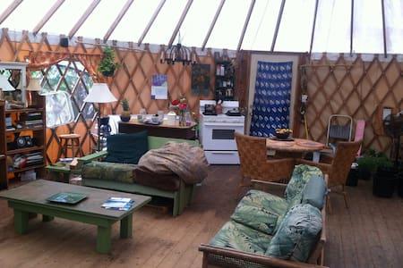 Authentic yurt 30 feet around
