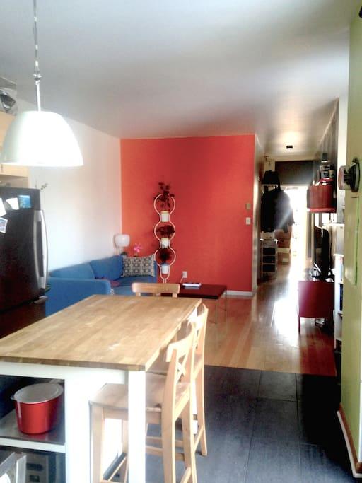 View of the living room / Vue sur lesalon