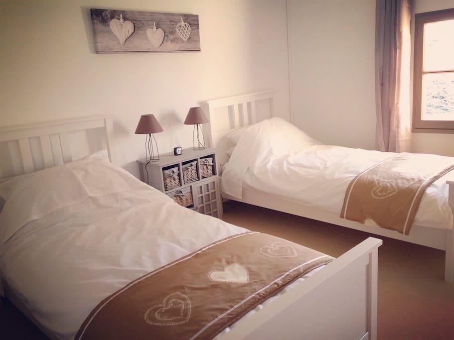 twin room in castillonais vineyards chambres d 39 h tes louer saint magne de castillon. Black Bedroom Furniture Sets. Home Design Ideas
