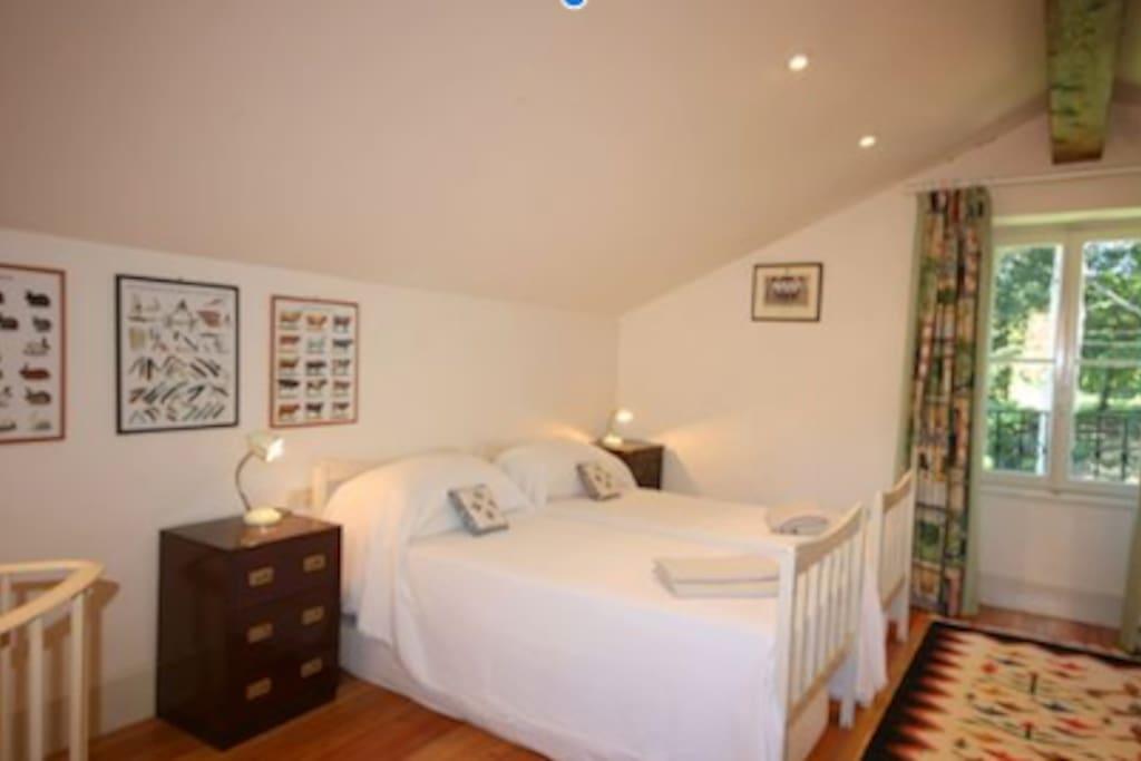 Top bedroom, with ensuite WC.