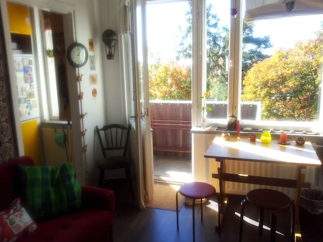A colourful apartment near the centre, in Pispala - Tampere - Huoneisto