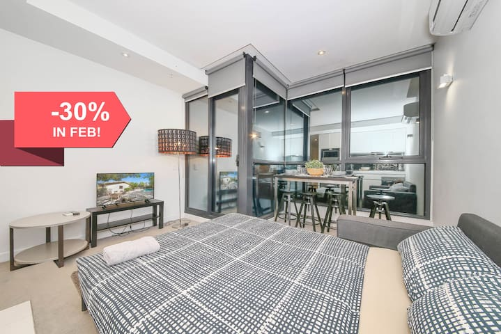 Cozy CBD Apartment, Federation Square, FREE Wi-Fi