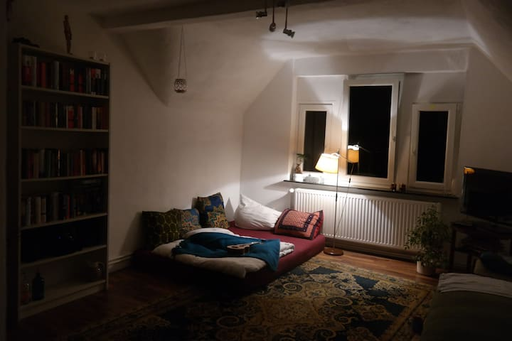 Private room in old building flat