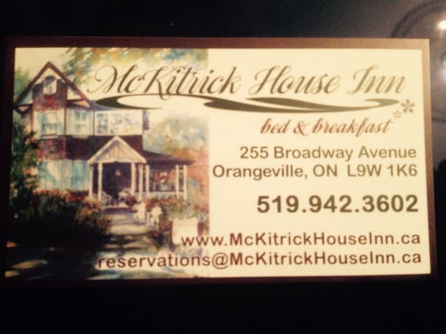 McKitrick House Inn Bed n Breakfast - Orangeville
