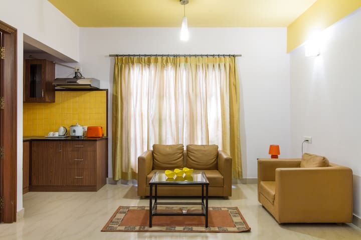 Central located& family friendly private apartment - Bangalore - Bed & Breakfast