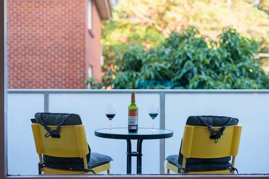 Balcony with beautiful outlook