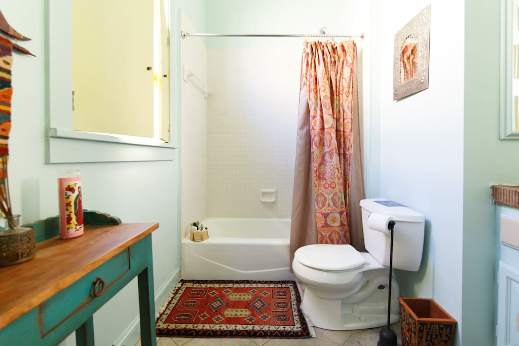 The guests' private bathroom