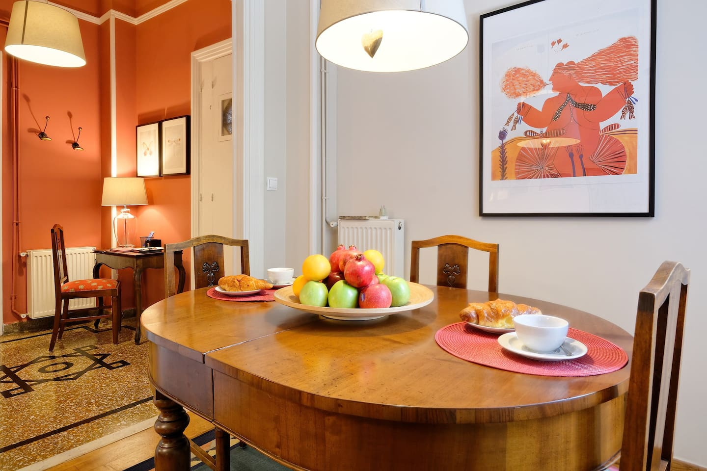 Enjoy this neoclassical and finely furnished apartment, steps from the Acropolis hill