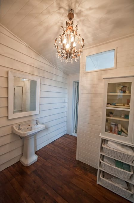 The bathroom is newly renovated with new shower toilet etc.