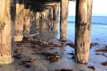 Historic Queenscliff pier, Portsea in the background - love this pic.