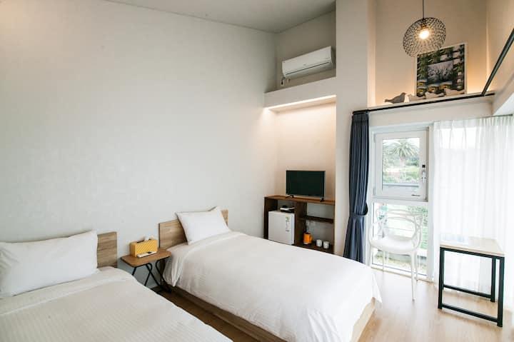★Ensuite private unit twin room near Jungmun beach