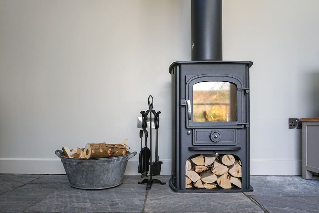Cosy up by the wood burner