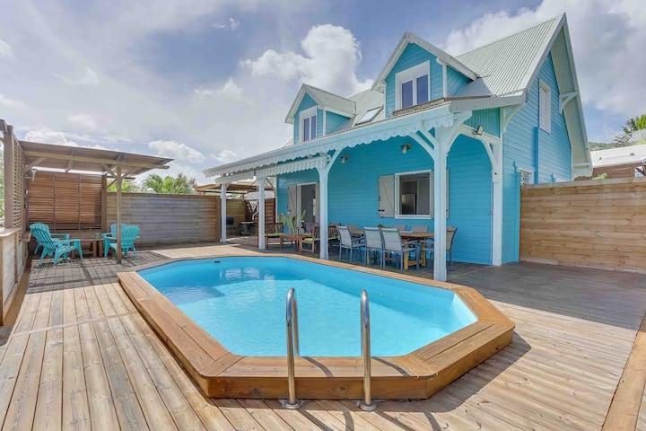 Casabwa972, 4ch, piscine et plage à 200m